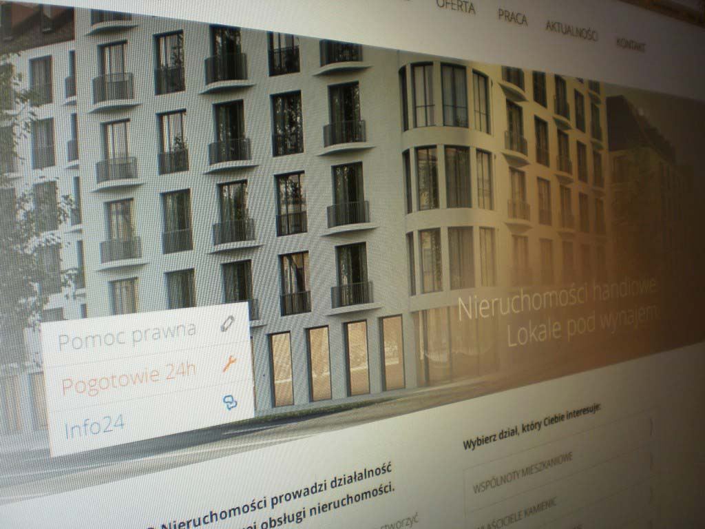 strona www dla zarządcy nieruchomości
