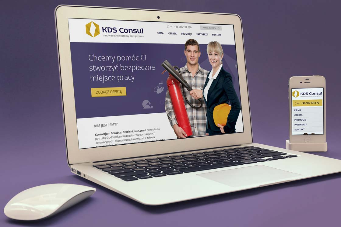 Strony internetowe KDS Consul