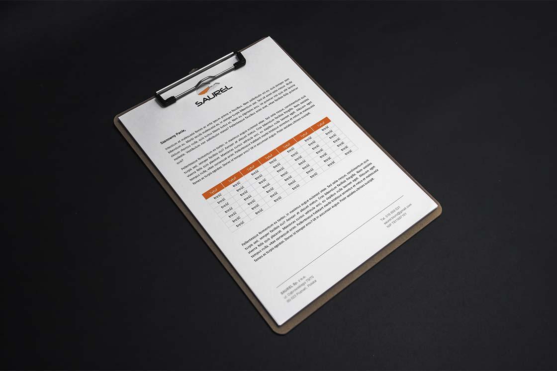 projektowanie papieru firmowego