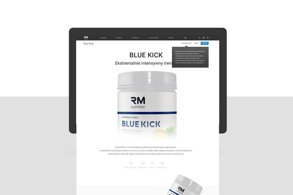 RM Fitness - strona internetowa