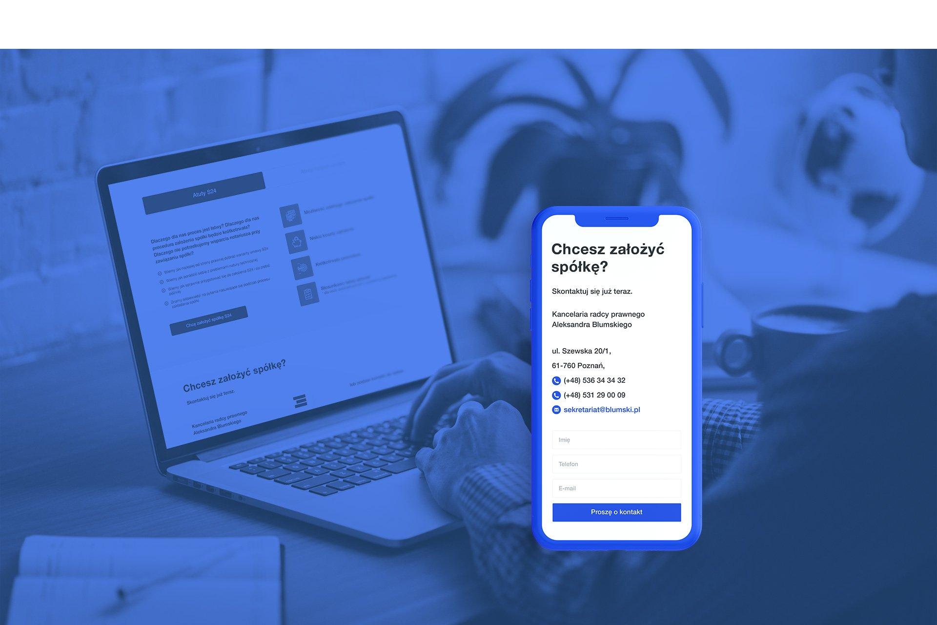 strona www landing page