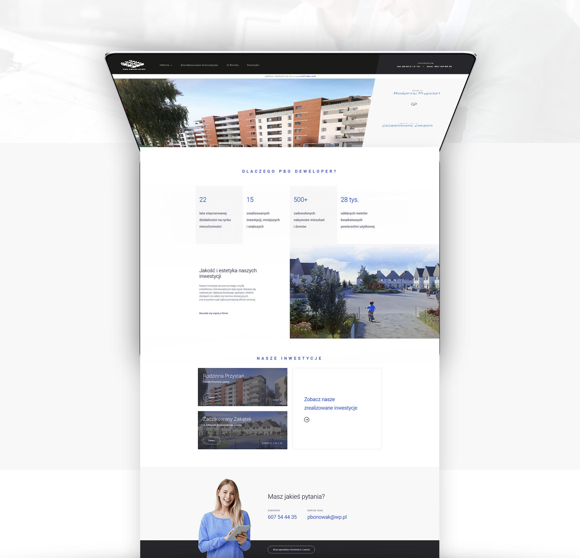 projekt strony www leszno strony internetowe pbo deweloper