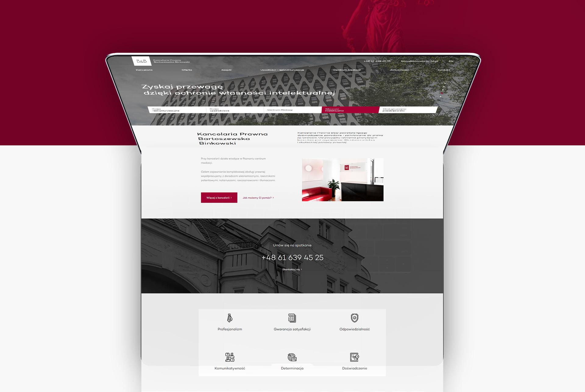 strony internetowe dla adwokatów z Poznania