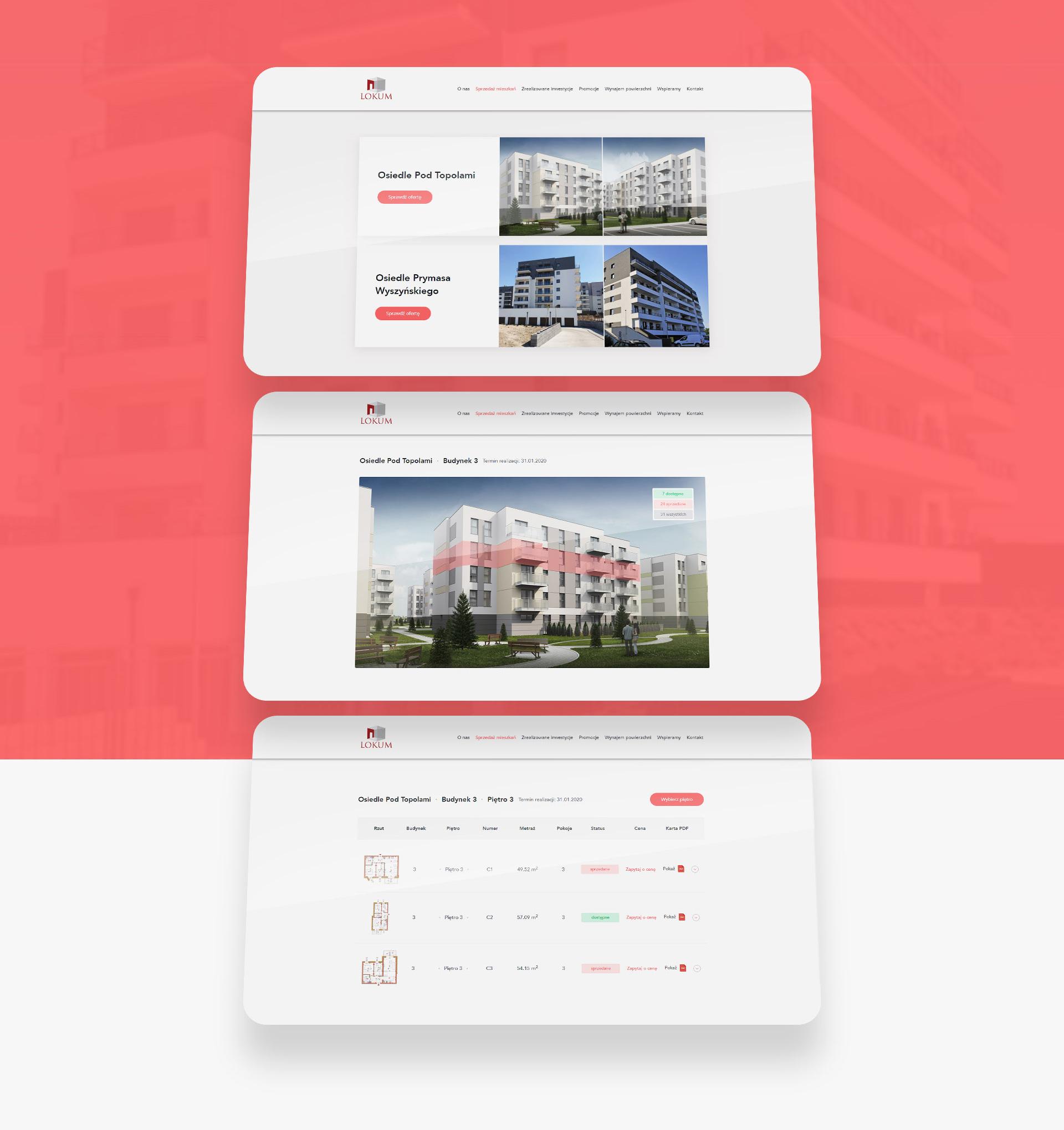 tworzenie stron www z bazą mieszkań i kartami lokali lokum inwest