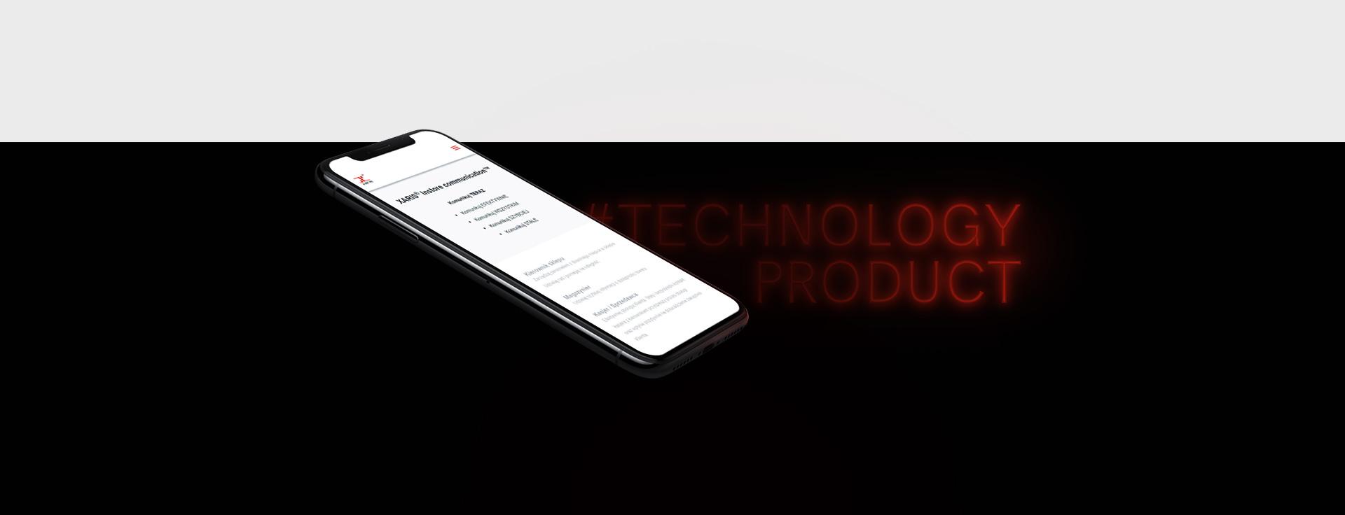 mobilna wersja xaris.pl przykład dobrego projektowania