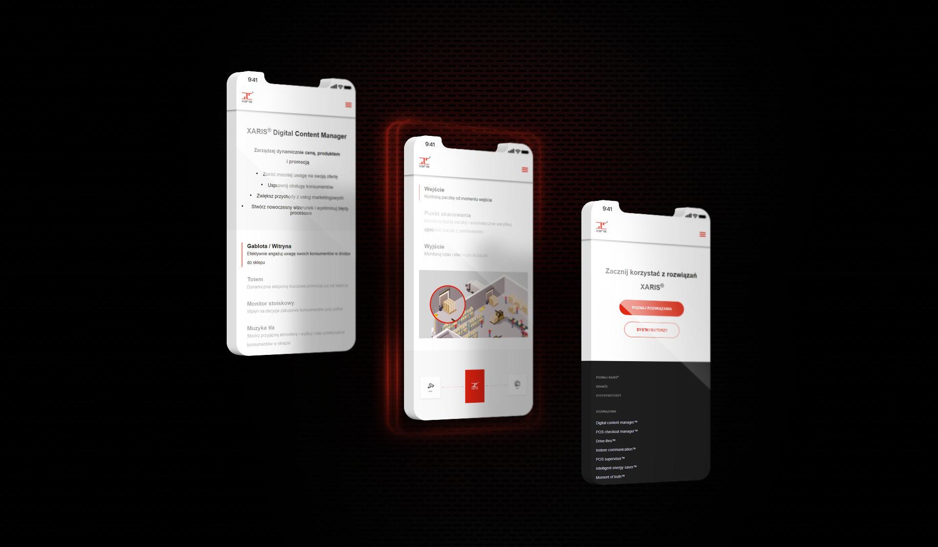 wersje mobilne strony www xaris poznań